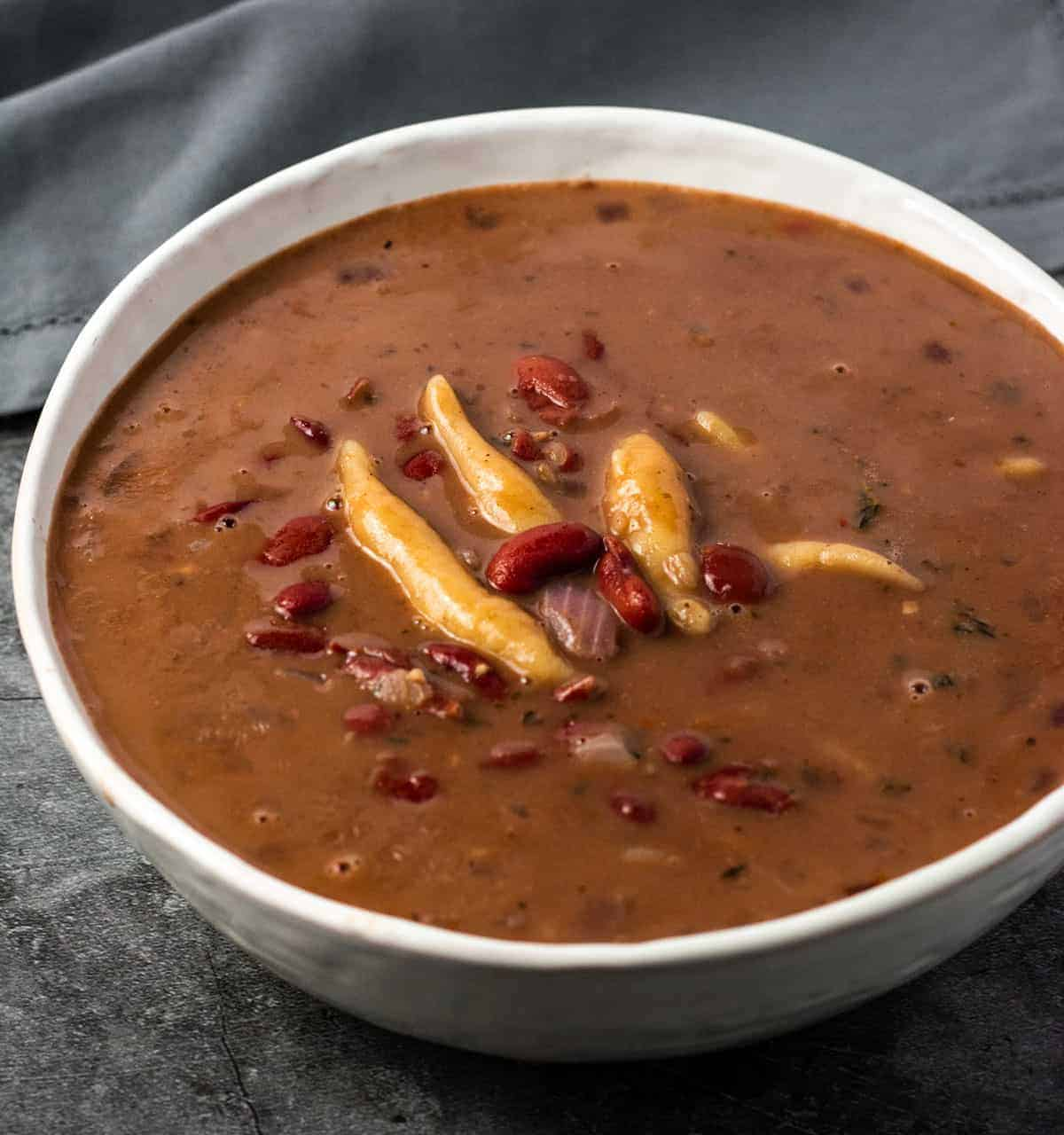 red peas soup with beef  pig's tail  large  jamaican